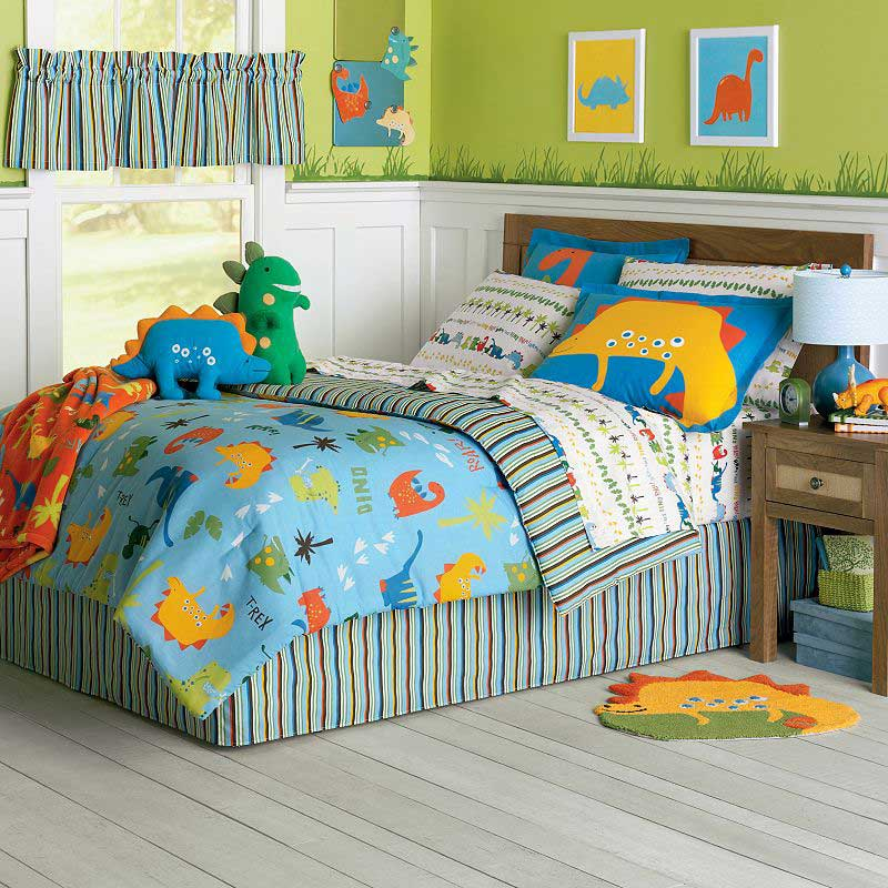 dinosaur bedding set 6pc dino t rex comforter set twin bed