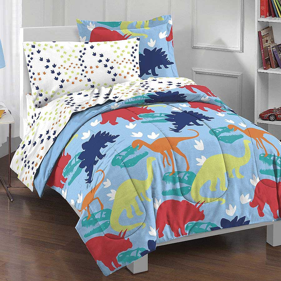 Dinosaur Bedding Set - 5pc Twin Bed