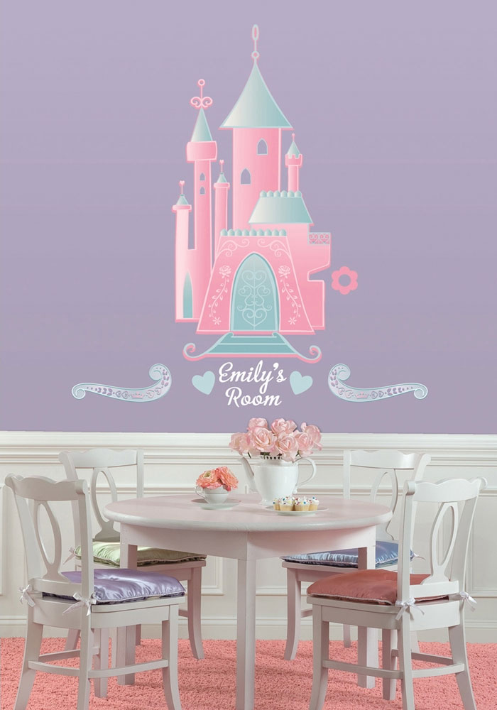 Disney Castle Self-Stick Decor with Alphabet Decals