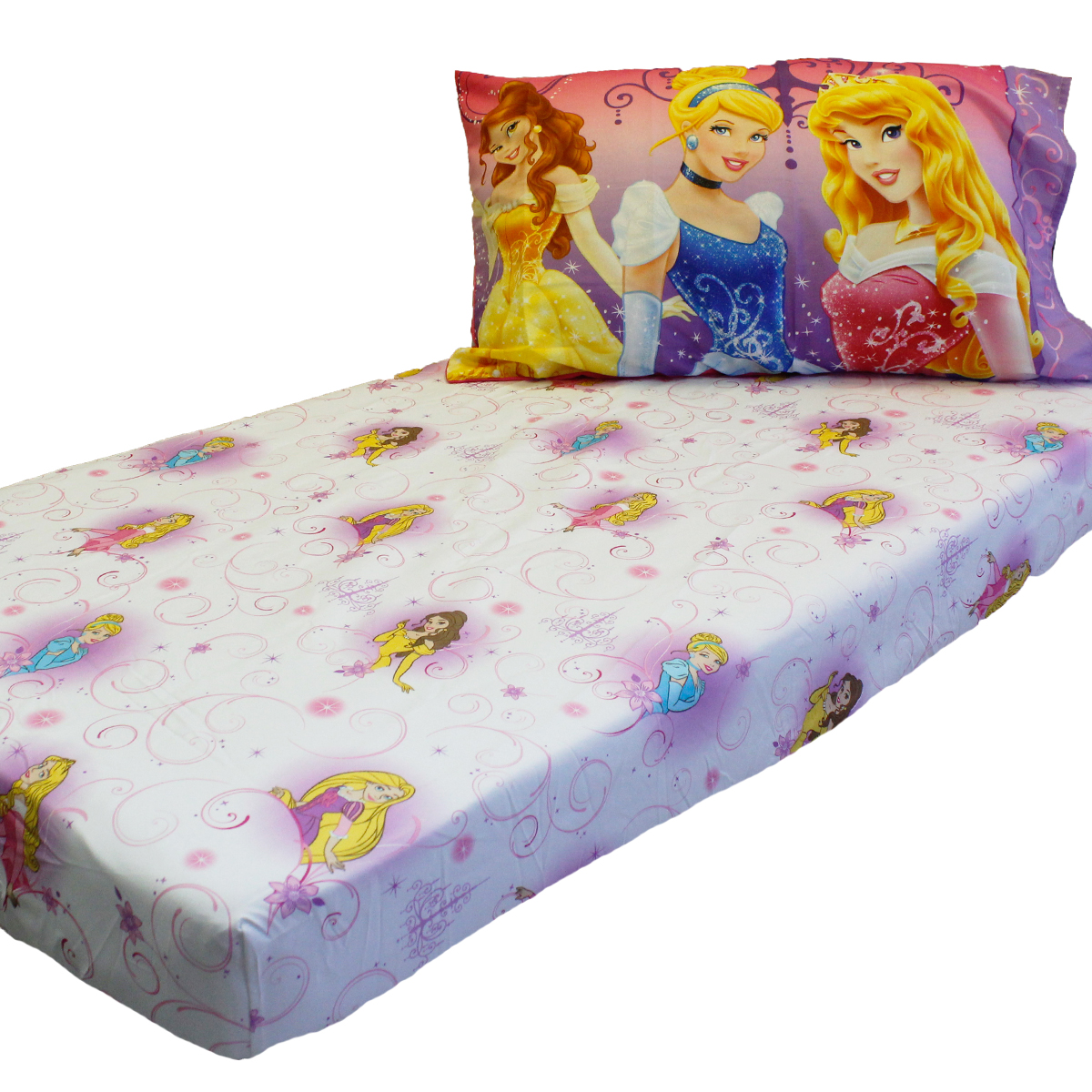 Disney Princesses Toddler Fitted Sheet Pillowcase Set