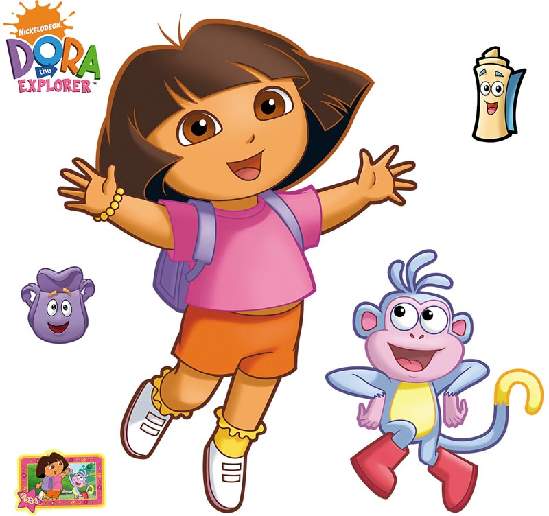 Dora the Explorer Accent Decals - 6pc Large Stick-up Wall Mural Stickers FH15-15990
