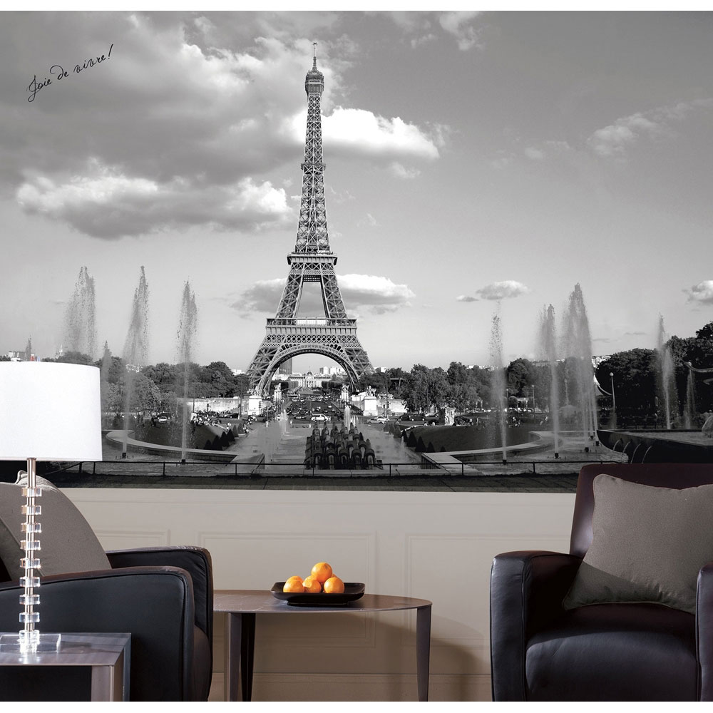 eiffel tower wall mural paris france wallpaper accent decor