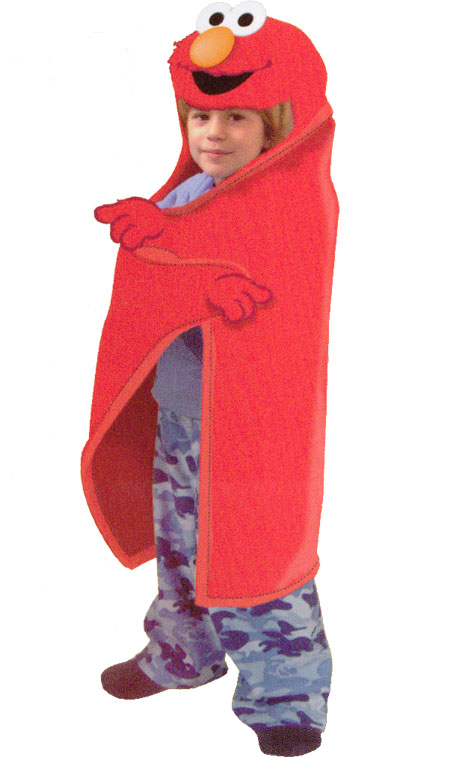 Sesame Street Blanket with Hood - Elmo Hooded Fleece Throw