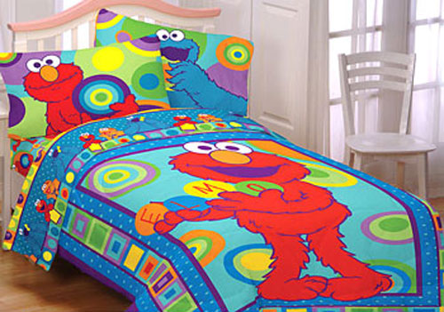Sesame Street Elmo Cookie Monster   Bedding Comforter Set .