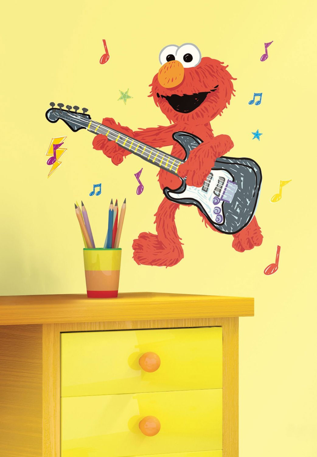 Rock-N-Roll Elmo Large Wall Accent