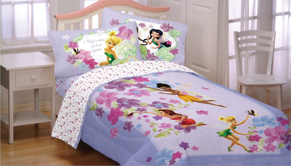 Disney Fairies Floral Sheets Full-Double Size