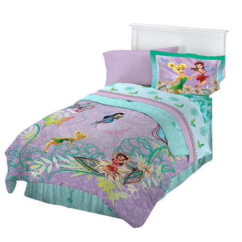 Disney fairies butterfly twin bedding set tinkerbell for Tinkerbell bedroom furniture
