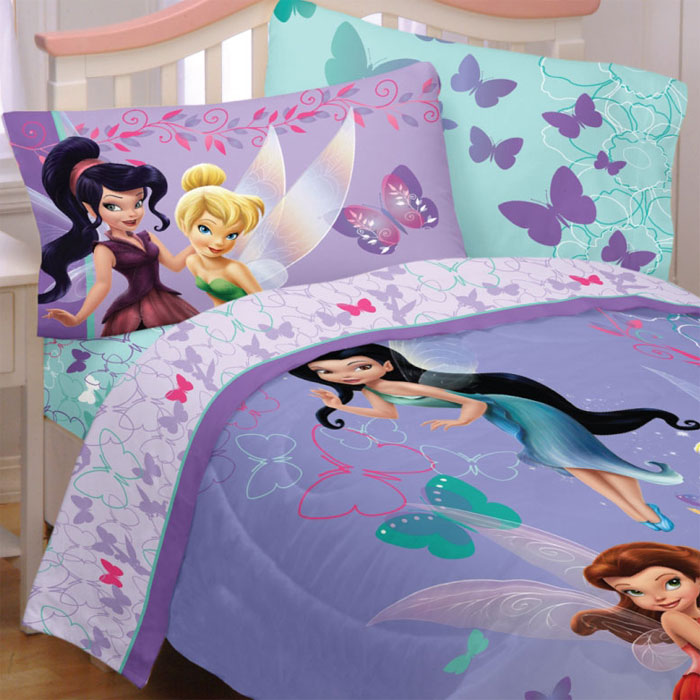 Disney Tinkerbell Powder Purple Full Bedding Set Bed
