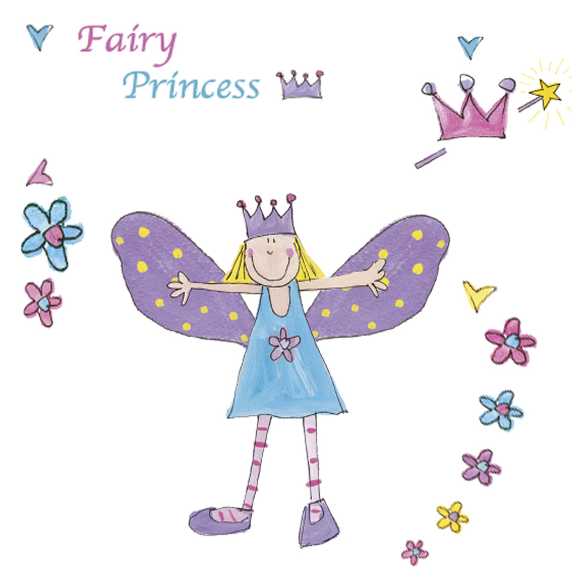 Fairy princess peel and stick 23 wall stickers decals for Fairy princess mural