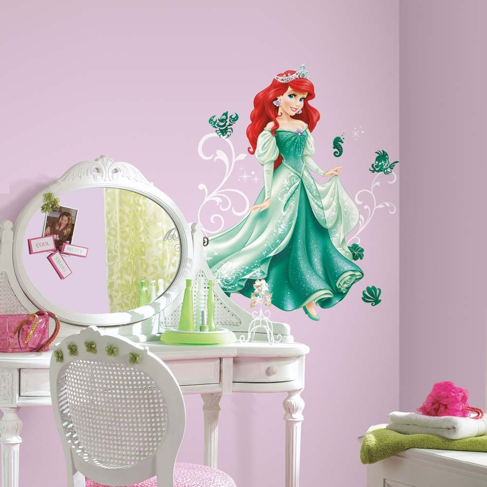Disney Princess Ariel 16pc Wall Accent Sticker