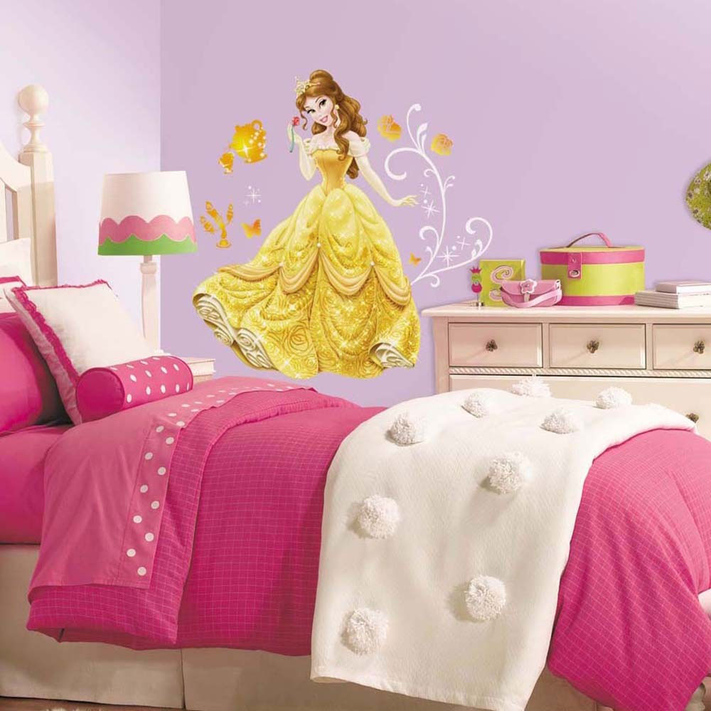 Beauty and the beast belles bedroom - Fun Disney Princess Room Decor Ideas Disney Belle Wall Accent Sticker