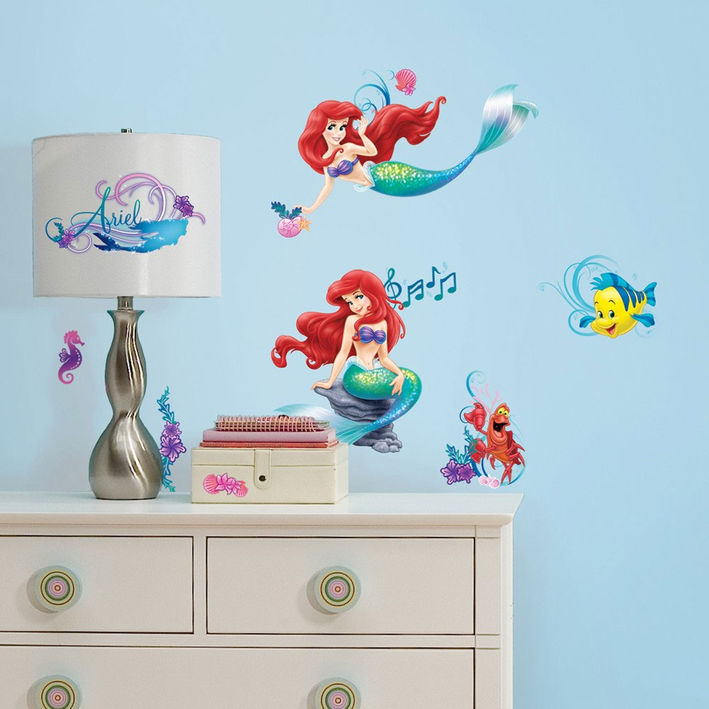 Disney Little Mermaid 44pc Wall Sticker Set