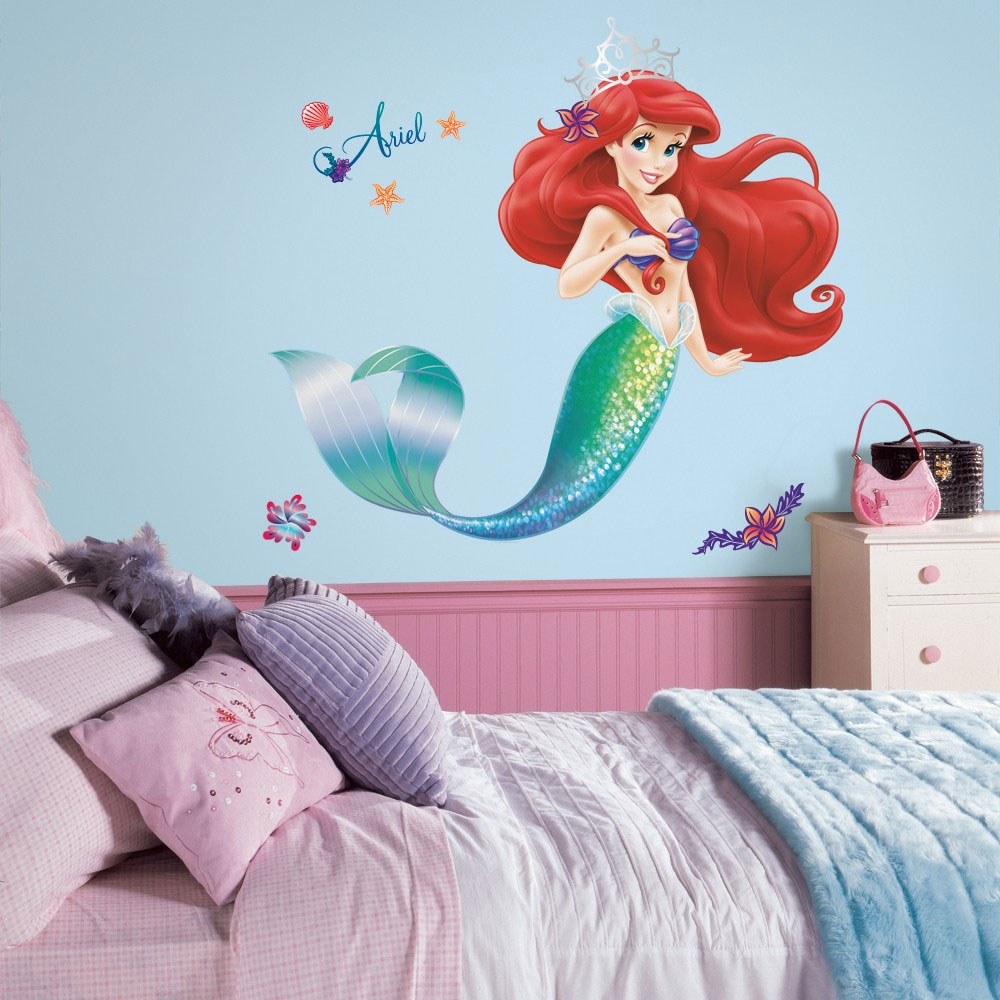 Disney Little Mermaid 17pc Wall Accent Sticker