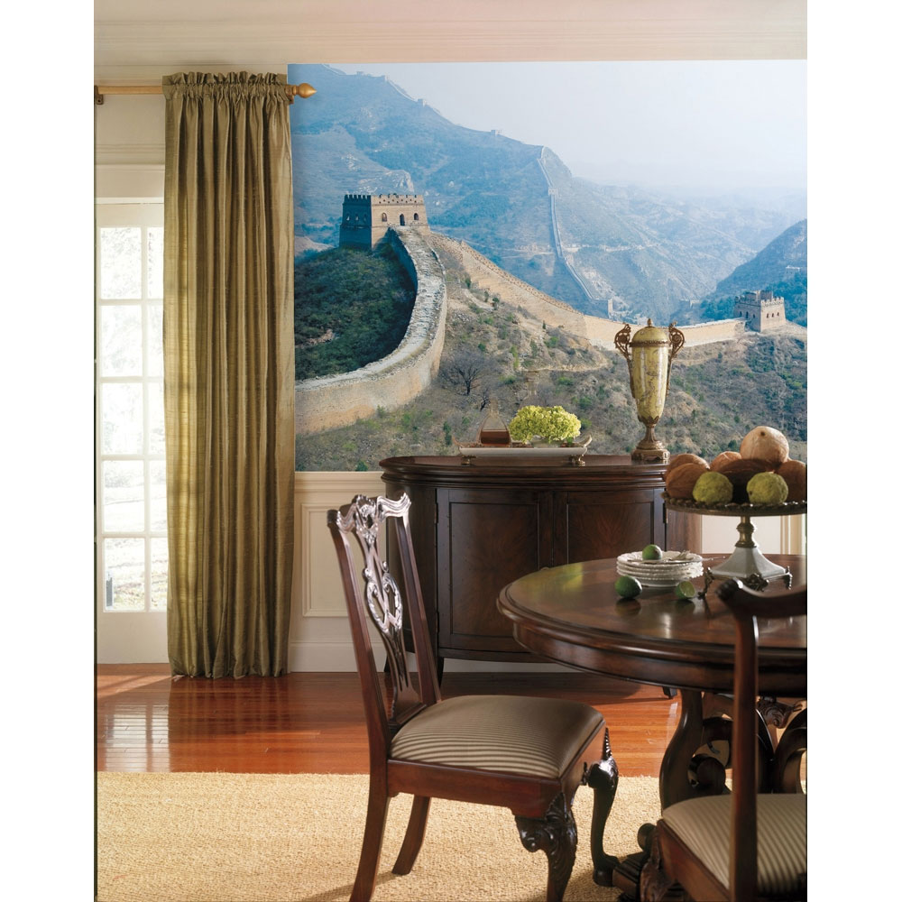 Scenic Photos: Scenic Wallpaper Above Chair Railing