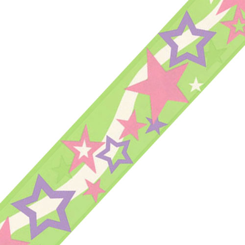 surestrip Green Stars Shapes Prepasted Wallpaper Border Roll at Sears.com