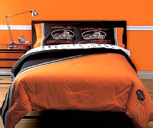 Harley Davidson Motorcycles Bed In A Bag Set Twin Size