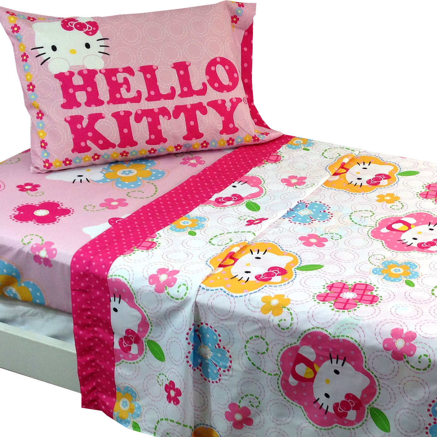 Sanrio Hello Kitty Twin Bed Sheet Set
