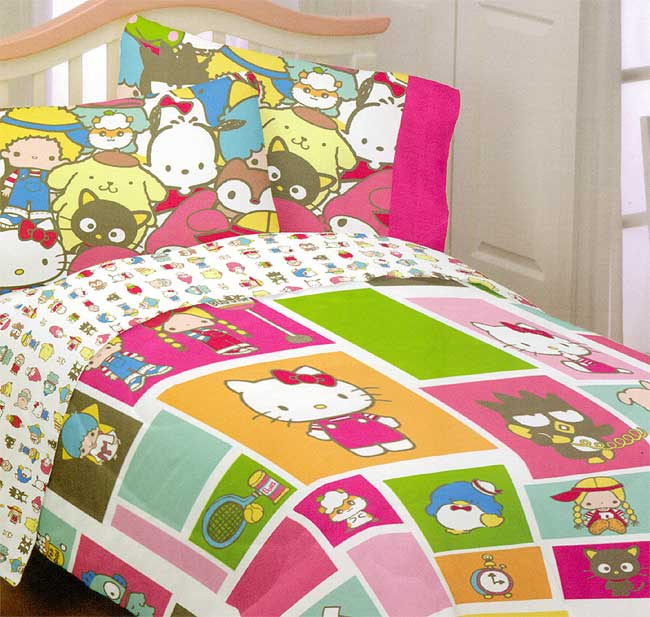 Sanrio Hello Kitty Twin Comforter - Keroppi Blanket Twin Bed