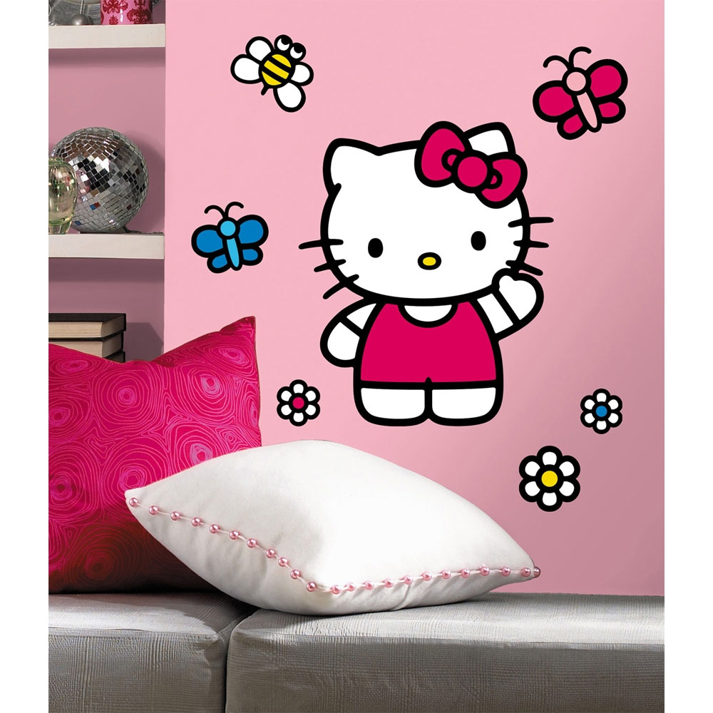 Hello Kitty Large Self-Stick Wall Accent