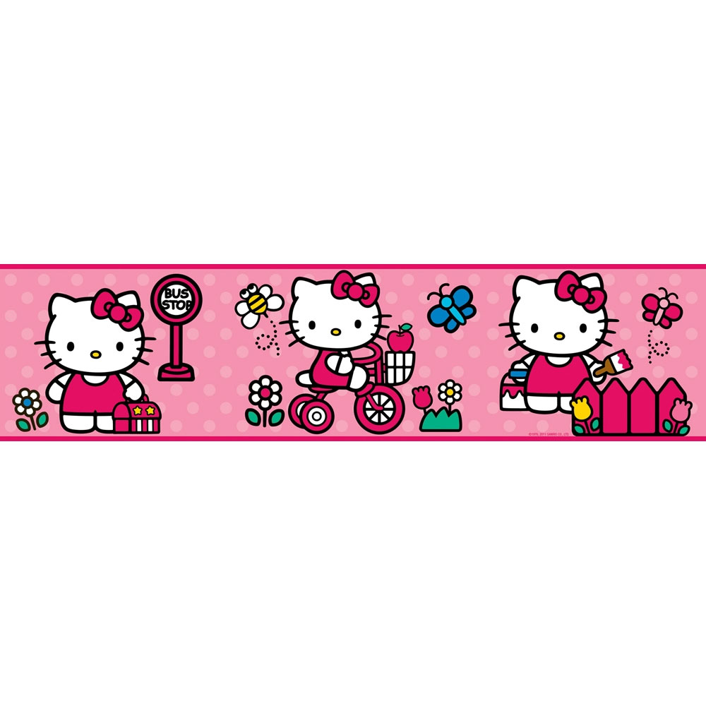 Hello Kitty World Wall Border