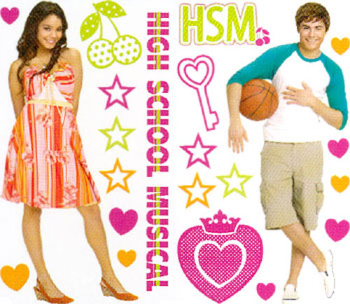 Disneys High School Musical Decals - 47 Wall Stickers - Room Accents GAPP1820