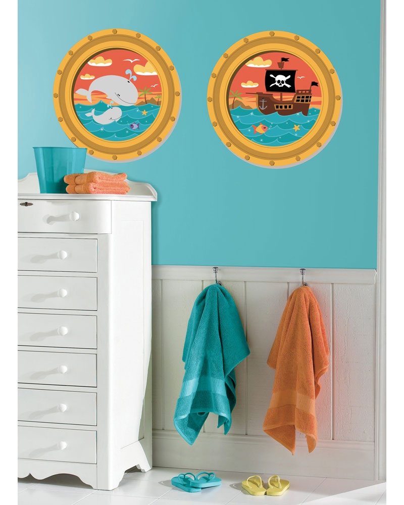 Pirate Ship Portholes Stickers