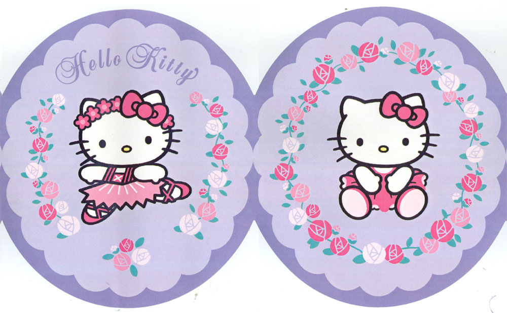 Hello Kitty Purple Wallpaper Border