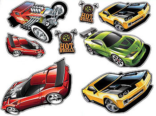 20pc hot wheels racing cars wall stickers kids cut outs ebay hot wheels wall sticker wall stickers