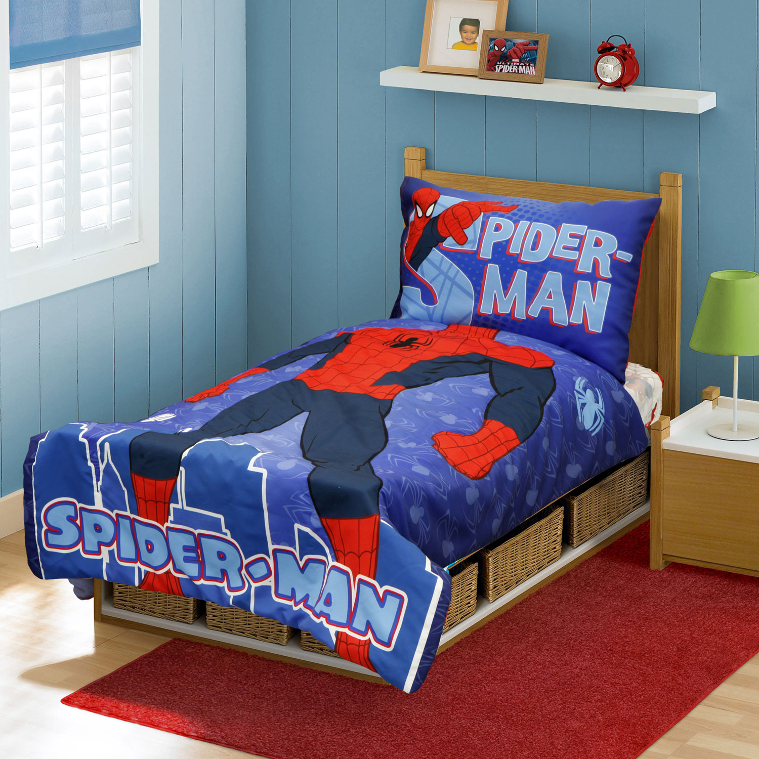 Marvel Spiderman Toddler Bedding Set - 4pc I Am Spider-Man Comforter and Sheets SMD11489
