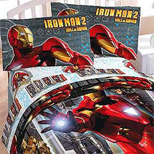 details about 3pc iron man armor marvel comics bedding bed sheets set