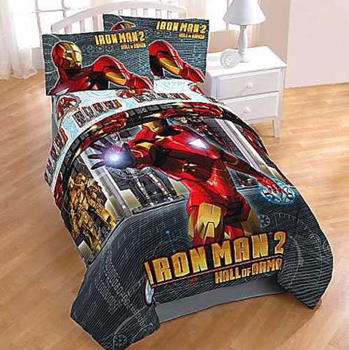 Iron Man Twin Sheets Hall Of Armor Bed Sheet Set