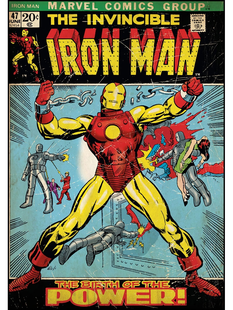 Iron man wall accent marvel comic book cover poster stick up