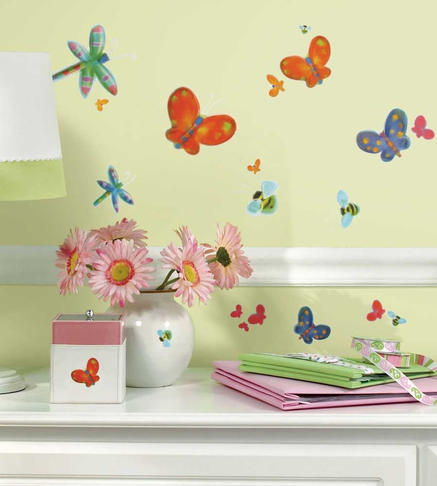 Jelly Bugs 58pc Wall Sticker Set