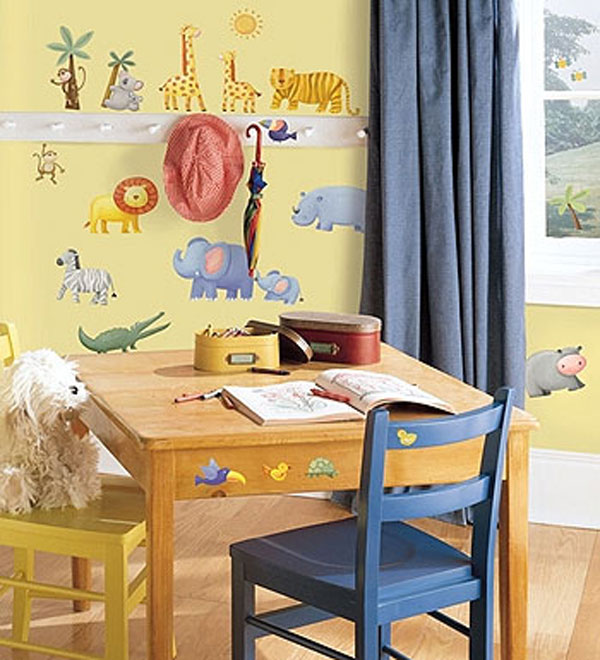 Jungle Animals 29pc Peel and Stick Wall Stickers