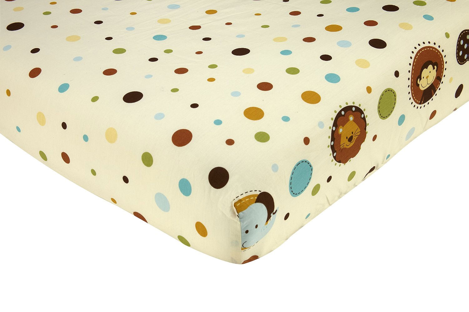 Jungle Tales Fitted Crib Sheet