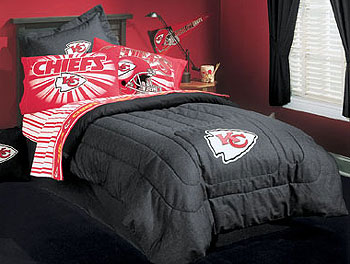 Nfl Kansas City Chiefs Denim Football Bedding Comforter
