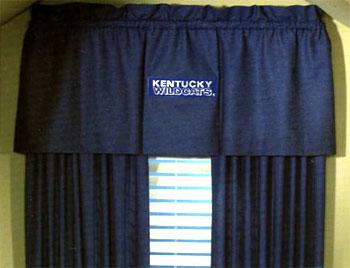 University Of Kentucky Uk Wildcats Denim Window Valance