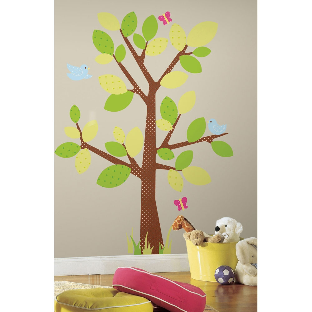 Tree and Butterflies Decal Stickers