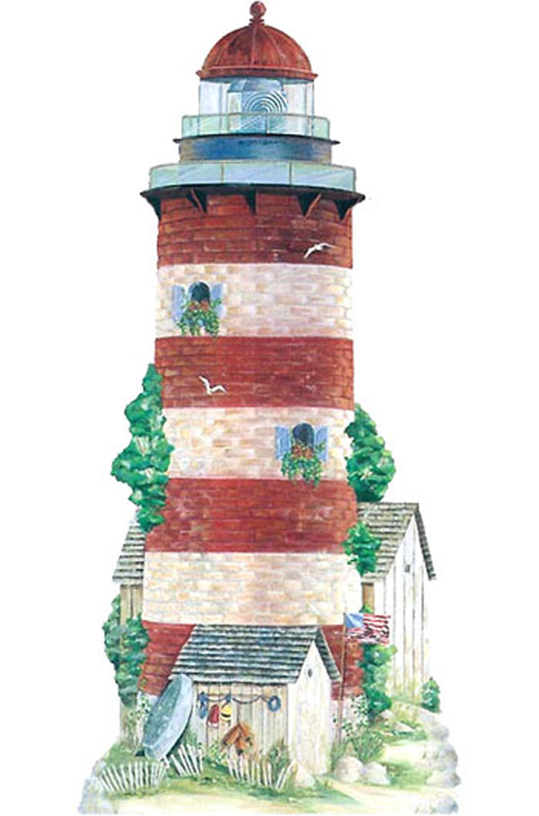 Large 6-Feet Lighthouse Mural