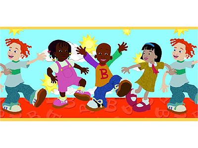 wallpaper kids room. Lil Bill - Kids Room - Wall