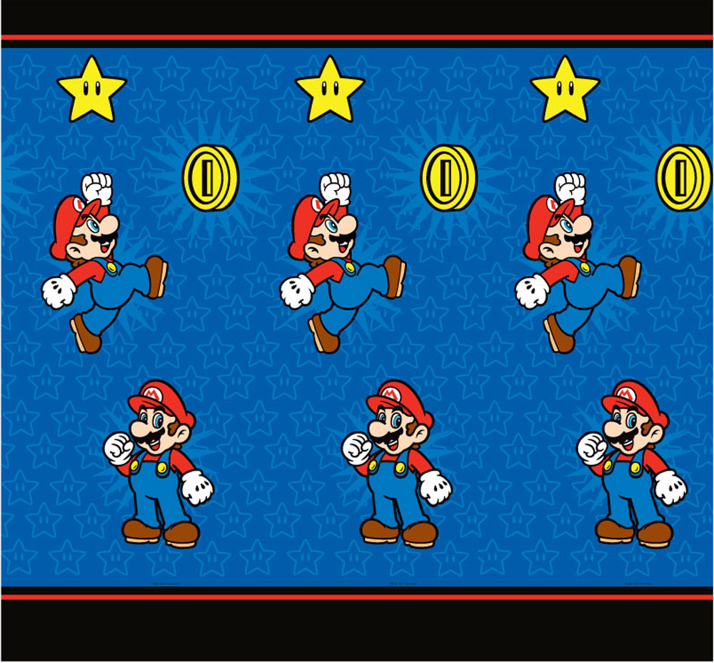One Nintendo Super Mario Simply the Best fabric shower curtain measuring approximately 70 x 72 inches (178 cm x 183 cm). #best