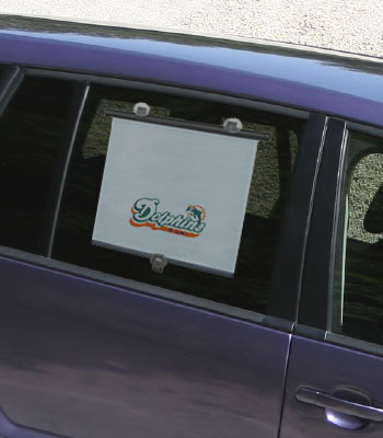 NFL Miami Dolphins - Retractable Automobile Car Window Shade
