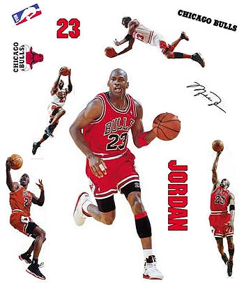 Micheal Jordan Wall Stickers - Basketball Wall Mural Decals