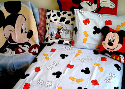 Disney Mickey Mouse - 4pc Bed Sheet Set - Full-Double Size