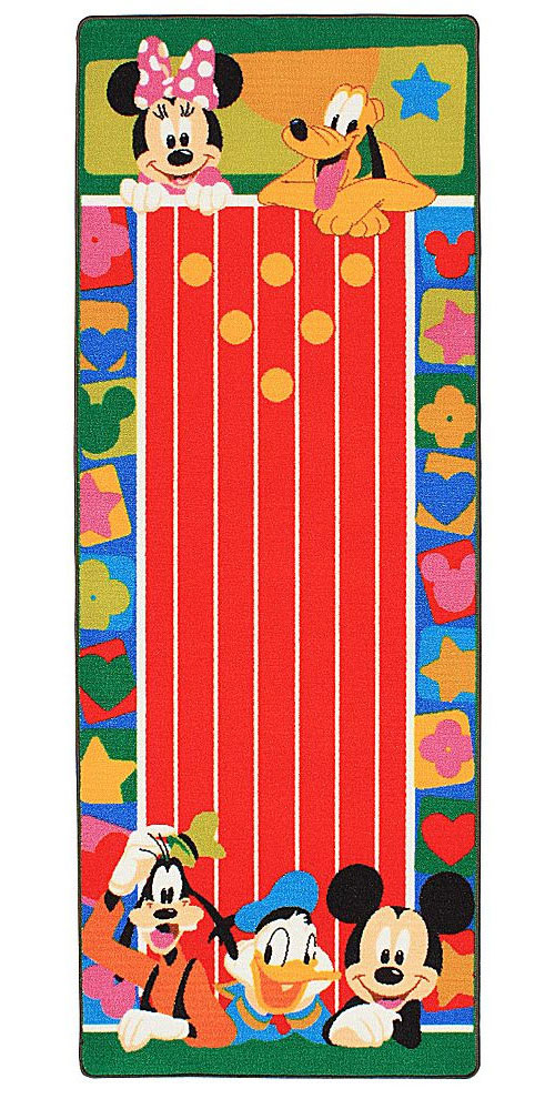 Disney Mickey Friends Bowling Game Activity Floor Rug
