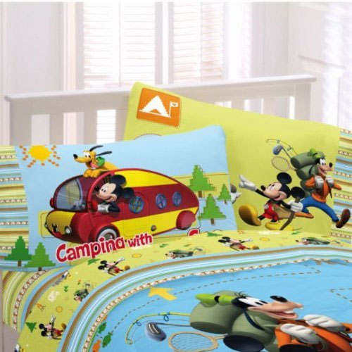 2-Pack Mickey Mouse Reversible Pillowcases Set