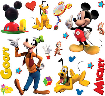 Mickey mouse clubhouse peel and stick 41 micky wall stickers