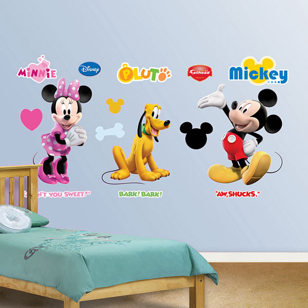 mickey mouse clubhouse wall accents disney minnie pluto. Black Bedroom Furniture Sets. Home Design Ideas