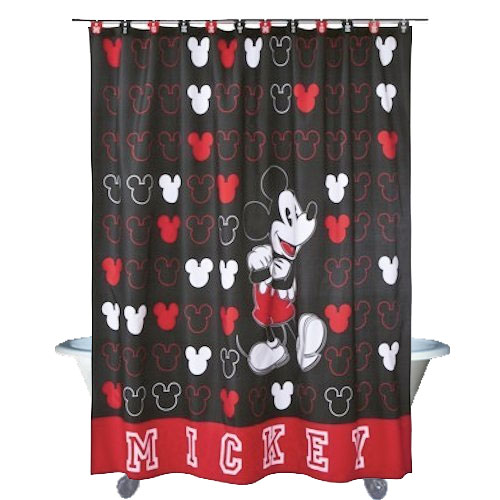 Classic Mickey Mouse Shower Curtain Disney Bathroom Accessories