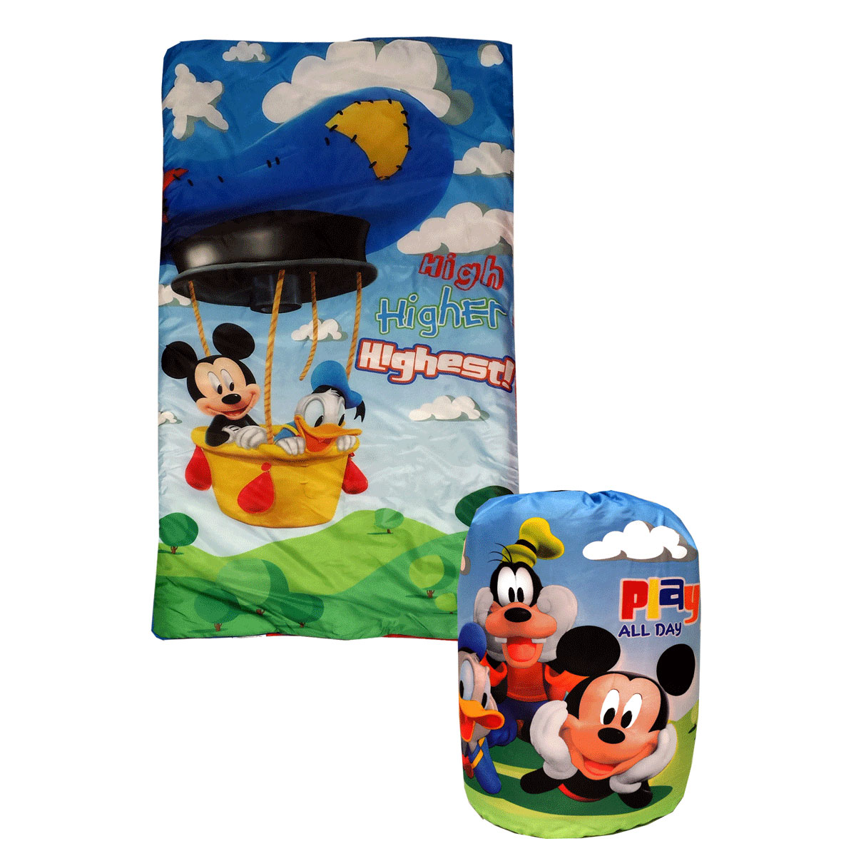 2pc Disney Mickey Mouse Sleeping Bag Backpack Set